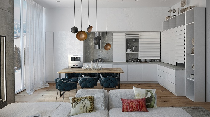 eclectic-modern-open-plan-kitchen-Nika-Tokar