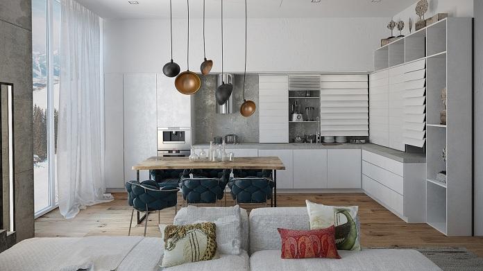 eclectic-modern-open-plan-kitchen-Nika-Tokar