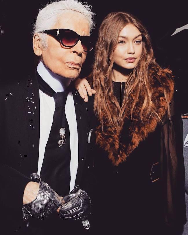 Karl Lagerfeld va Bella Hadid