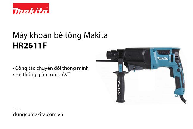 May khoan be tong Makita HR2611F